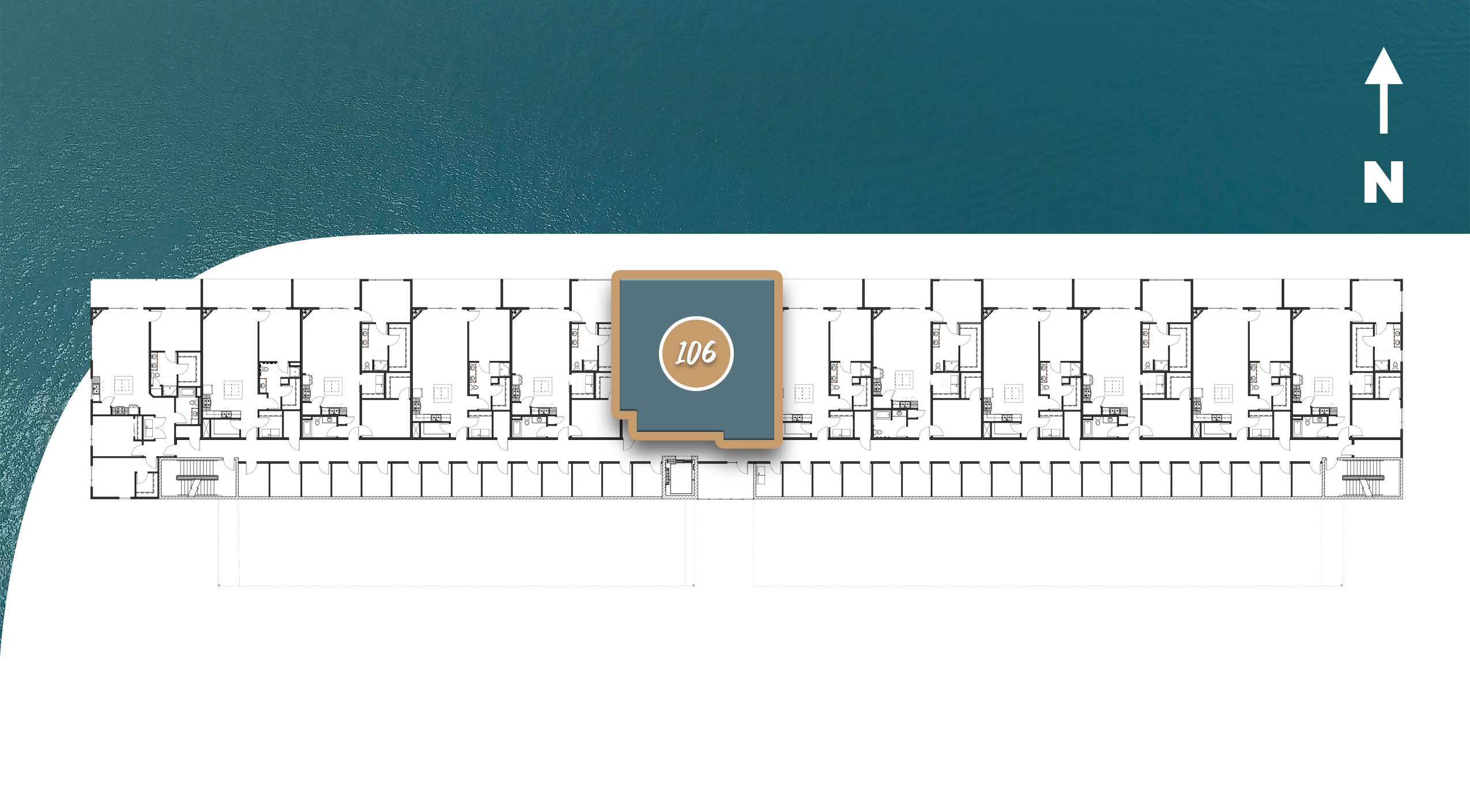 Axis Floor Plan Layout, Ebb Building at The Current of the Fox - Kimberly